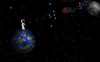Tenta destruir as naves espaciais que voam à volta de outros planetas. Cuidado, elas podem destruir-te!