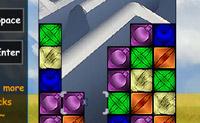 Junte 3 blocos da mesma cor numa fila para os fazer desaparecer do ecrã.