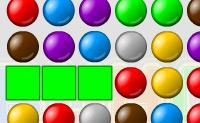 Crie o maior número de grupos de bolas da mesma cor possível!