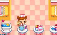 Ajude esta pequena enfermeira a tratar de todos os bebés.