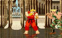 Joga com Ken e Guile nesta versão de Street Fighter e abate o teu adversário!