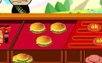 Põe o teu avental e serve a estas pessoas uns hamburgueres deliciosos!