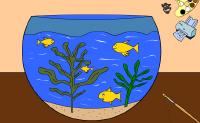 Um aquário tem geralmente muitas cores. Mas este é só a preto e branco!