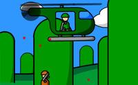 Neste jogo de helicóptero tentas abater a maior quantidade possível de helicópteros inimigos. Eles disparam balas contra ti: se fores atingido por mais de 20 balas, morres. Abate o maior número de helicópteros possível.