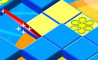 Clique nos mosaicos para que o quadrado vermelho avance e ganhe!