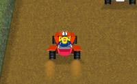 Tenta chegar em primeiro nesta corrida de moto quatro, mas mantém-te atento ao nível de gasolina!