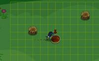 Ajuda esta barata a rolar a bola para a sua caverna. Usa os itens no campo para parar a bola, pois apenas a podes rol�-la em linhas direitas. Boa sorte!