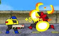Derreta metal com o disparador de chamas e de plasma e lance granadas!