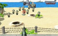 Está sendo atacado por um grande número de tropas armadas. Abata-as!