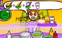Teste as suas capacidades de serviço no novo simulador de serviços de alimentação da Mech-Droid!