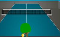 Toca na bola com o lado direito da raquete para bater a bola para a direita e com o lado esquerdo para bater a bola para a esquerda.