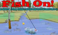 Tenta capturar peixe suficiente para passares ao nível seguinte.