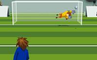 Tenta fazer tantos golos quanto possível. Quantos mais golos marcares mais difícil se torna. No fundo do ecrã podes decidir qual o curso da bola, se deve ter extras.