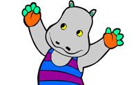 Dá a este hipopótamo umas bonitas cores