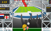 Limpa as bolas pontapeando uma bola da mesma cor. A cada nível tens um novo oponente.
