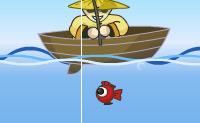 Tenta apanhar quantos mais peixes melhor dentro do tempo. Tem atenção aos relâmpagos e cuecas flutuantes!!!