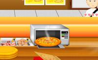 Tenta servir os clientes o mais rápido possível. Verifica que pizza eles querem, coloca os ingredientes e mete-a no forno. Verifica os teus mantimentos pois se os deixares esgotar tens de encomendar novos ingredientes.