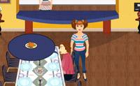 Oferece aos teus convidados um lugar e pergunta-lhes o que querem comer. Depois, deixa a tua mãe tratar do pedido e servir a comida.