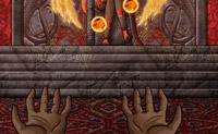 Tenta divertir a deusa mantendo as bolas de fogo no ar o tempo que conseguires.