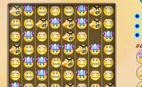 Coloca três das mesmas faces numa linha para as tirares do campo de jogos. Tenta tirar as caras suficientes do jogo para passares ao próximo nível.