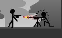 Vais numa zona de guerra e �s continuamente alvejado. Al�m disso, tamb�m levas com um monte de granadas. Se achares que isto est� a ser dif�cil, podes fazer sempre um pouco de batota mantendo a tecla de seta direita e Caps Lock carregadas.