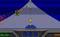 Defende o universo contra os extra-terrestres. Atira sobre todas as naves espaciais e evita os blocos com cruzes vermelhas.