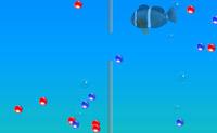 Separa todas as bolhas vermelhas e azuis. As bolhas vermelhas vão para a mão esquerda e as azuis para a direita. Quando tiveres dividido todas as bolhas para o lado correcto, passaste o nível.