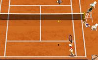 Tenta ficar em primeiro neste torneio de ténis.