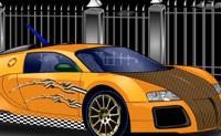 Enfeita este carro para que toda a gente o admire na próxima exposição de carros.