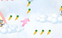 Tenta apanhar todas as cenouras com este coelho cor de rosa, mas tem cuidado com os pássaros maus. Se atingires a saída, passas ao próximo nível.
