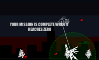 Luta e atinge o máximo de inimigos possível para que possas voar para o próximo nível.