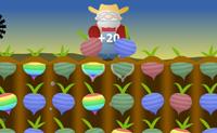 Apanha os nabos da terra aos pares. Se dois nabos têm a mesma cor ou o mesmo número de folhas. Passas ao nível seguinte quando tiveres pontos suficientes.
