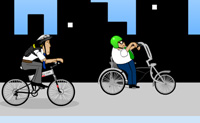 Guia a tua BMX pelas ruas e tem cuidado para não caíres da tua bicicleta