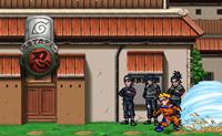 Escolhe um personagem da popular série de animação Naruto e garante que ganhas o combate. No início do jogo diz para pressionar