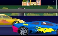 Enfeita este carro rápido e tenta bater 4 oponentes numa corrida de 1 para 1.