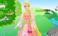 Veste esta Barbie para que ela fuja junto como príncipe dos seus sonhos.