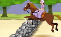 Corre pela estrada com o cavalo e tenta apanhar toda a comida que conseguires ao longo do caminho. Salta sobre os obstáculos que se te depararem.