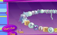 Escolhe um estilo, determina o tamanho e arrasta as letras para as braceletes para fazeres uma bela bracelete da amizade.