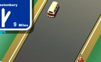 Tenta alcançar o teu objectivo sem que sejas abalroado por trás por um carro. Deixa correr muito óleo do teu autocarro, de modo que os carros que vêm atrás entrem num piso escorregadio.