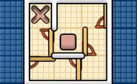 Tenta atingir a cruz com o quadrado. Para atingires a cruz, precisas de passar por v�rias portas que apenas podem ser abertas de uma forma. � contigo descobrir como chegar � cruz.