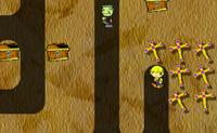 Apanha todos os tesouros mas não te deixes apanhar pelos zombies!