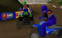 Sobe para a tua moto-quatro e segue o teu percurso! Aí podes fazer acrobacias engraçadas!