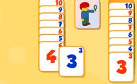 Tenta empilhar as cartas na ordem correcta. Empilha os números do mais baixo para o mais alto.