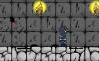 Apanha todas as moedas com este ninja para passares ao nível seguinte. Podes saltar paredes ou trepar.