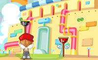 Neste jogo Bubble Trouble tenta rebentar todas as bolas! Atiras com um arpão contra as bolas, assim elas rebentam. Se fores atingido por uma bola, morres. É divertido jogar este jogo com duas pessoas.