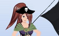 Veste esta rapariga para que possa ir para o mar brincar aos piratas.