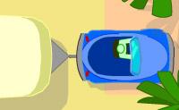 Vais ter aulas de condução para conduzir um carro com caravana. Faz o que o examinador diz e assim obténs a tua carta de condução. Estaciona correctamente sem falhas, senão o examinador fica zangado.