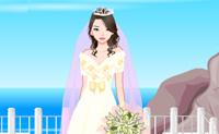 Esta rapariga é mesmo uma perfeccionista. Vê quantos belos vestidos de casamento e acessórios ela coleccionou para o grande dia. É difícil escolher entre o vestido de casamento e uma bata, podes ajudá-la?