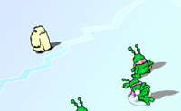 Bate os teus oponentes nesta batalha de bolas de neve. Mas tem cuidado para que não te atinjam com uma bola de neve. Em cada nível tens mais oponentes.