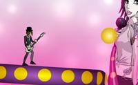 Estás na banda The Veronicas e tens de apanhar todas as bolas eléctricas mas cuidado para não caíres do palco